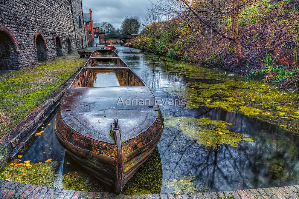 Canal Boat  by Adrian Evans