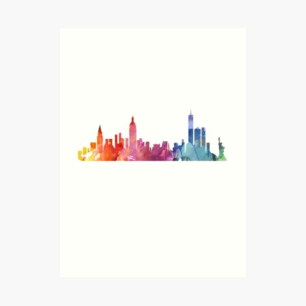 New York bunte Skyline 2 Kunstdruck