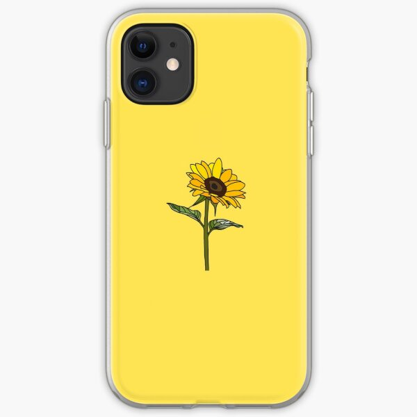 Little Aesthetic Sunflower iPhone Soft Case