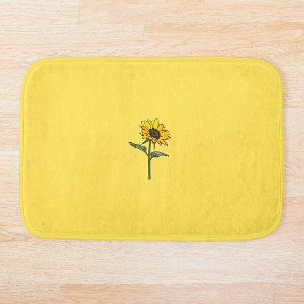Little Aesthetic Sunflower Bath Mat