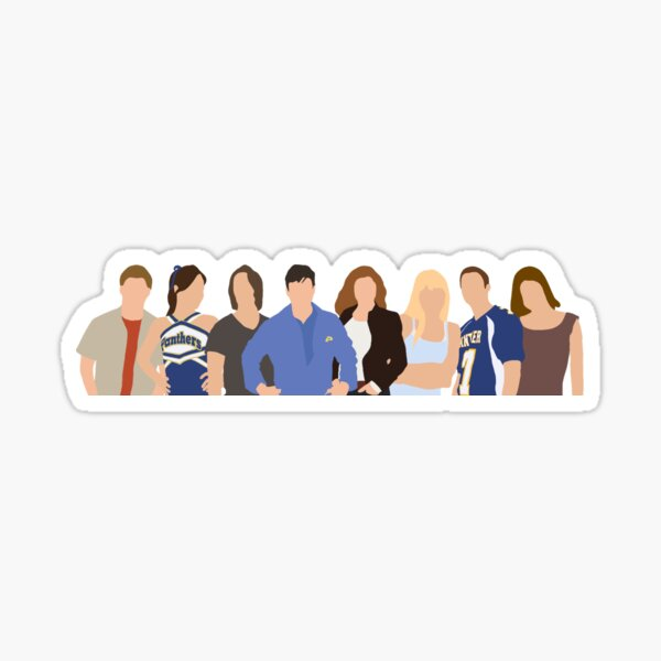 Friday Night Lights Character Silhouette Sticker
