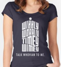 Talk Whovian To Me Women's Fitted Scoop T-Shirt