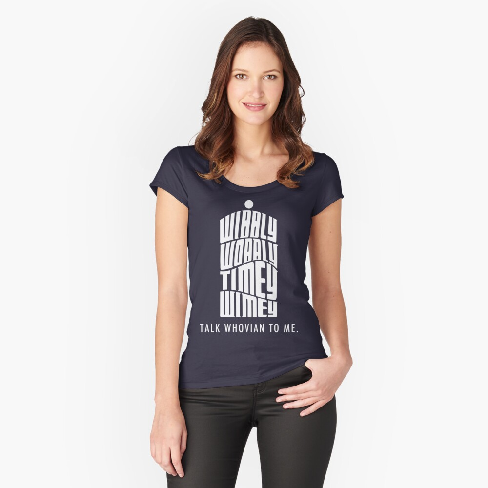 Talk Whovian To Me Women's Fitted Scoop T-Shirt Front
