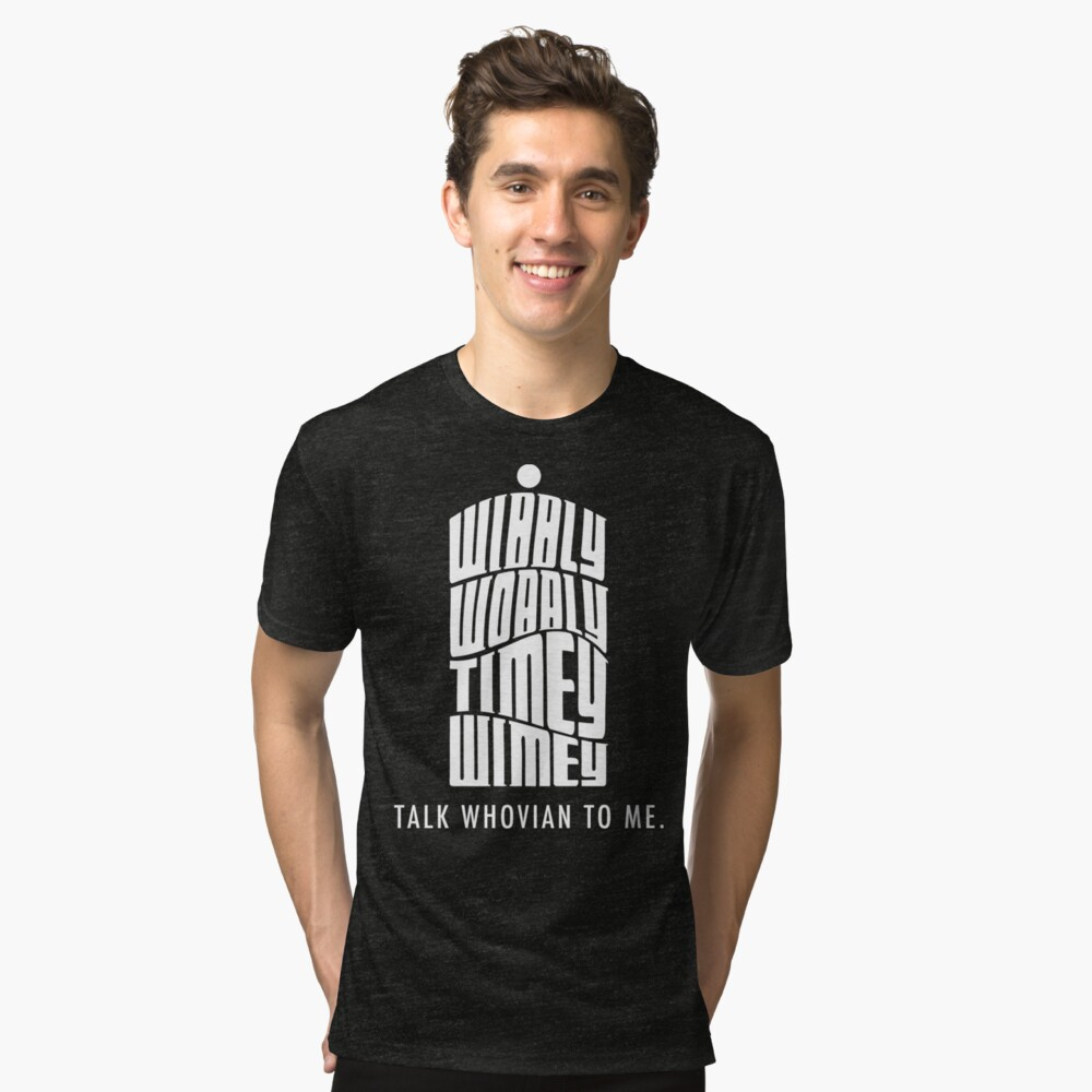 Talk Whovian To Me Tri-blend T-Shirt Front