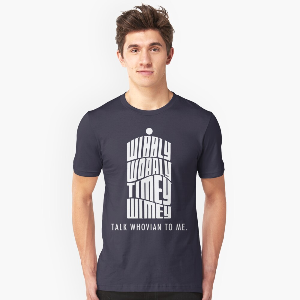 Talk Whovian To Me Unisex T-Shirt Front