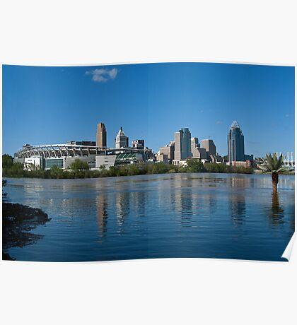 Cincinnati skyline 8 Poster