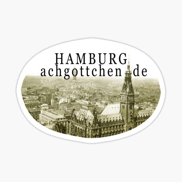 Rathaus Hamburg 120 years ago Sticker