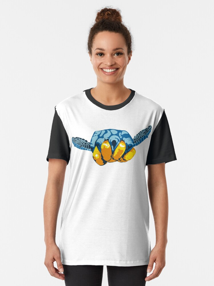 Alternate view of Turtle Hand Signal Graphic T-Shirt