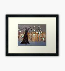 :: Willow Sunset :: Framed Print
