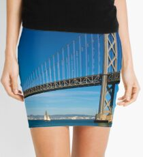 Sailing under the Bay Bridge - San Francisco Mini Skirt