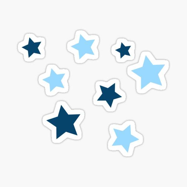 light blue/navy star pack Sticker