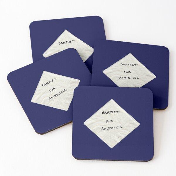 President Bartlet's Napkin Campaign Starter! Coasters (Set of 4)