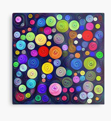 #DeepDream Color Circles Visual Areas 5x5K v1448448724 Metal Print