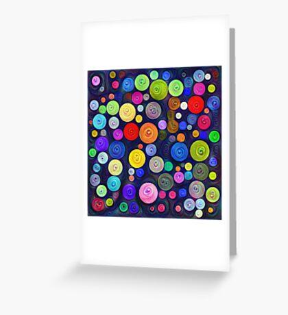 #DeepDream Color Circles Visual Areas 5x5K v1448448724 Greeting Card