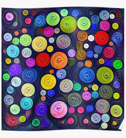#DeepDream Color Circles Visual Areas 5x5K v1448448724 Poster