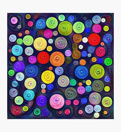 #DeepDream Color Circles Visual Areas 5x5K v1448448724 Photographic Print