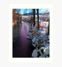 Quiet river in winter time Art Print