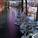 Quiet river in winter time by Patrick Jobst