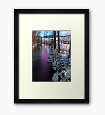 Quiet river in winter time Framed Print