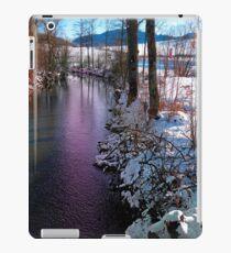 Quiet river in winter time iPad Case/Skin