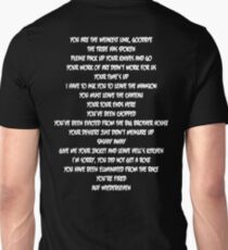 You are the weakest link, goodbye Unisex T-Shirt