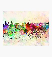 Berlin skyline in watercolor background Photographic Print