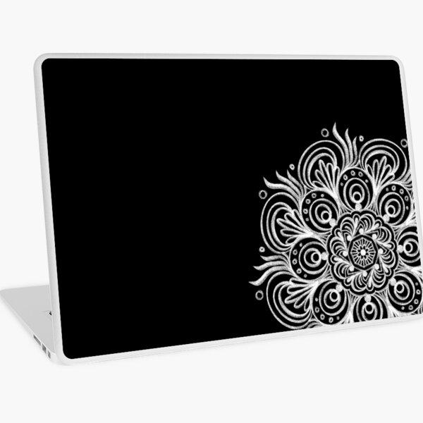 White Chalk pattern on Black Board Laptop Skin