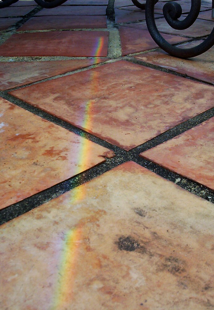 Rainbow On Pavement - Two - 21 11 12 by Robert Phillips