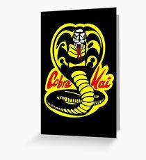 Tarjeta de felicitación Cobra Kai - El Karate Kid