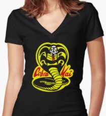 Cobra Kai - The Karate Kid Women's Fitted V-Neck T-Shirt