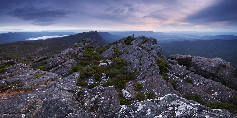 Sunset on Mount Difficult - Grampians Victoria by Mark Shean
