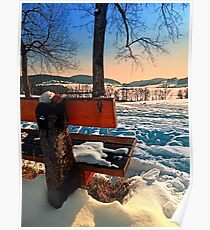 View into winter scenery Poster