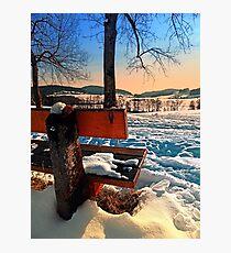View into winter scenery Photographic Print