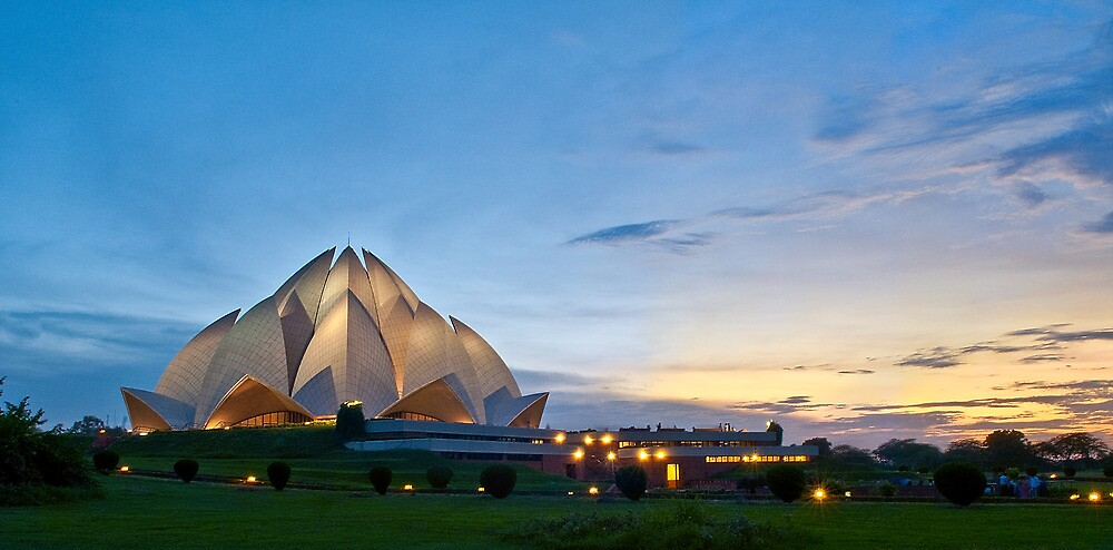 lotus temple or bahai temple by pushkar17