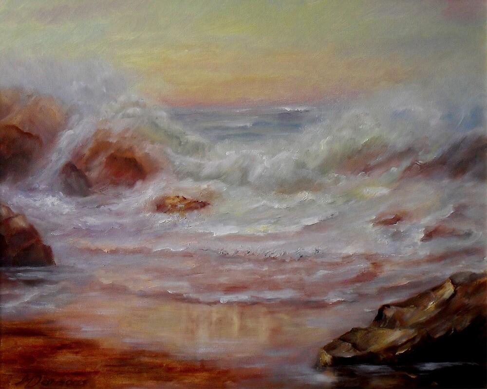 Sunset seascape by Milija  Jansons