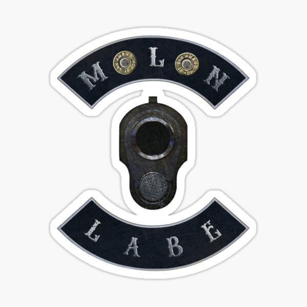 Molon Labe in Rockers with M1911 Colt 45 Sticker