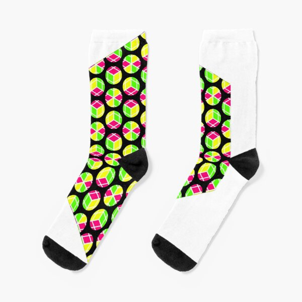About Four Hexagonal Rings of Cubey Dots Socks