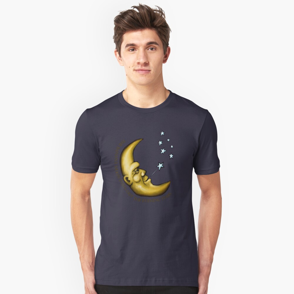 The banana moon puffs out the evening stars Unisex T-Shirt Front