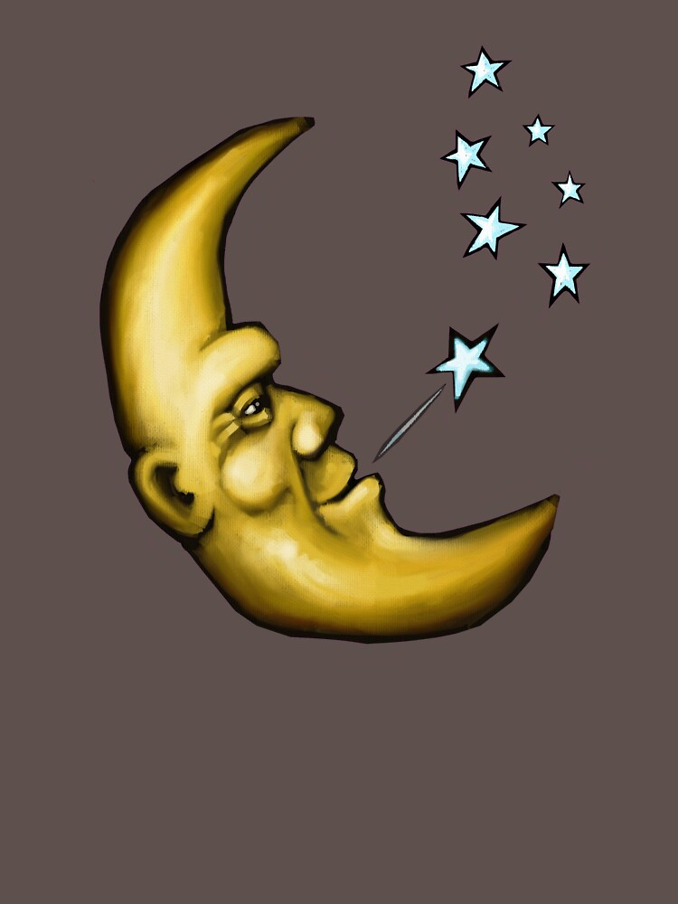 The banana moon puffs out the evening stars by astralsid