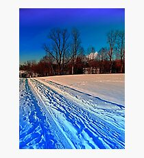 Traces on a winter hiking trail Photographic Print