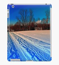 Traces on a winter hiking trail iPad Case/Skin