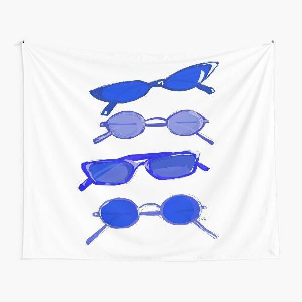 Navy Sunglasses Tapestry