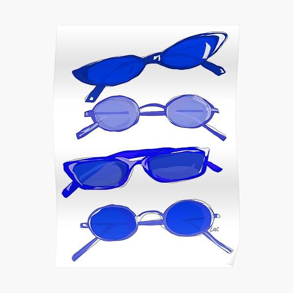 Navy Sunglasses Poster