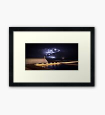 Incoming Storm, Newcastle Ocean Baths Framed Print