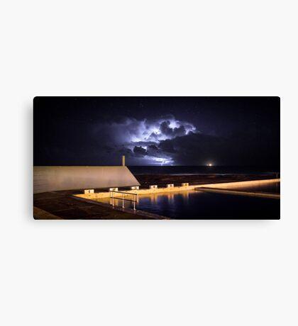 Incoming Storm, Newcastle Ocean Baths Canvas Print
