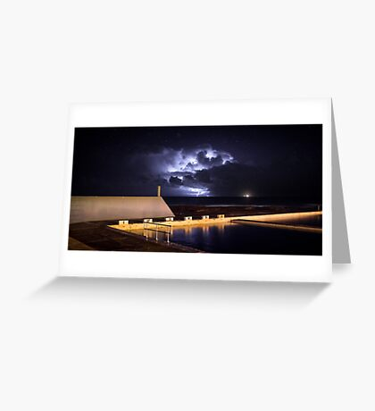 Incoming Storm, Newcastle Ocean Baths Greeting Card