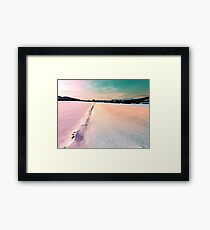 The field and the village Framed Print