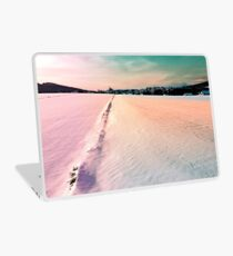 The field and the village Laptop Skin
