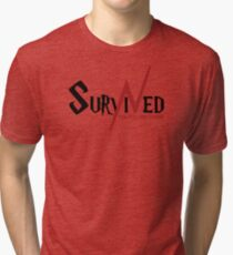 SURVIVED THE KILLING CURSE (first version) Tri-blend T-Shirt