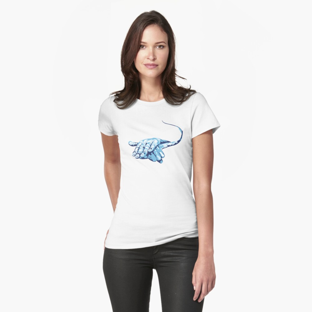 Stingray Hand Signal Fitted T-Shirt